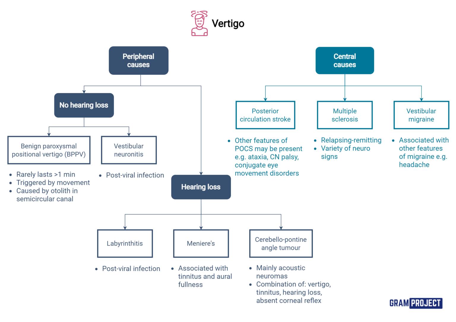 Diagnostic algorithm to approaching a patient presenting with vertigo